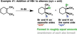 Addition Reactions: Stereochemistry