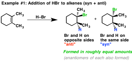 Stereoselectivity In Alkene Addition Reactions: Syn vs Anti Addition