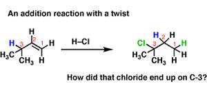 Rearrangements in Alkene Addition Reactions