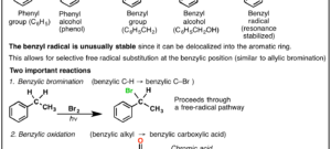 "Reactions on the ""Benzylic"" Carbon: Bromination And Oxidation"